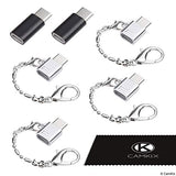 Micro USB to USB C Adapter (4X Compact with Key Chain + 2X Normal)