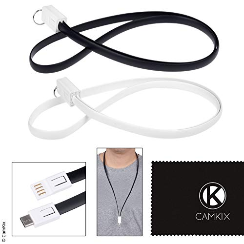 USB Lanyard (1 x Black and 1 x White)