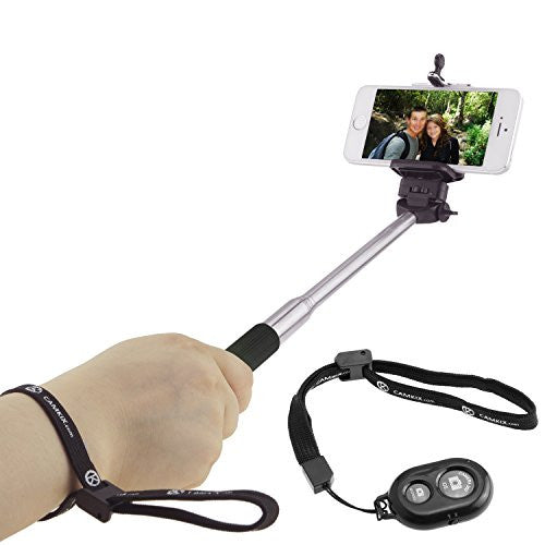 Selfie Stick with Bluetooth Remote for Smartphones