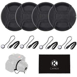 Lens Cap Bundle for DSLR Cameras - 55 mm (4 Pack)