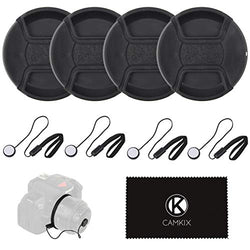 Lens Cap Bundle for DSLR Cameras - 77 mm (4 Pack)