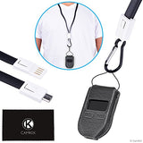 2in1 Protective Case & USB Lanyard Kit for Trezor One - Bitcoin Cryptocurrency Wallet