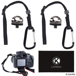 2x Camera Tether with Carabiner - 2x Tripod Screw