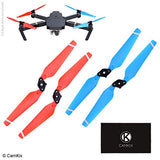 Propellers for DJI Mavic Pro - 1 Set (4 Blades) - Red + Blue