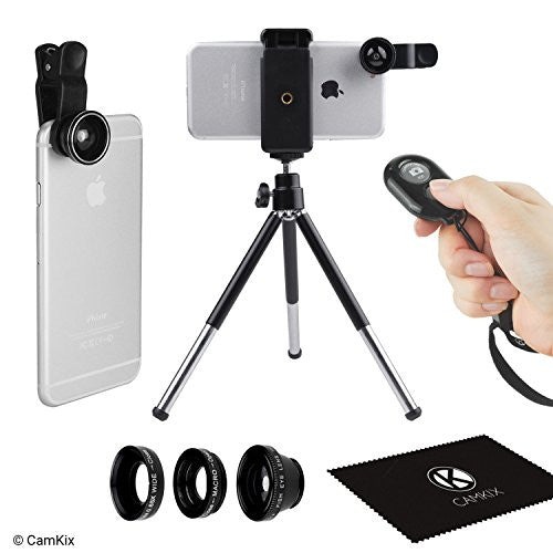 Universal 3in1 Lens Kit, Shutter Remote & Tripod Kit for Smartphone