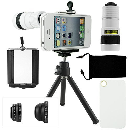 Lens Kit for iPhone 4 / 4S - 4in1 - 8x Telephoto