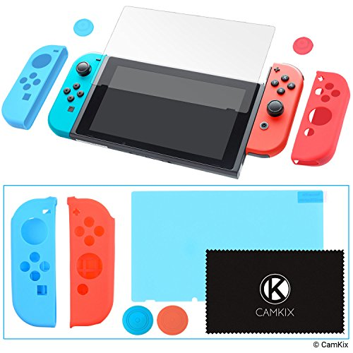 Joy Con and Thumb Grip Covers & Screen Protector for Nintendo Switch