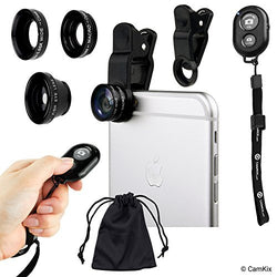 Universal 3in1 Lens Kit and Shutter Remote for Smartphone