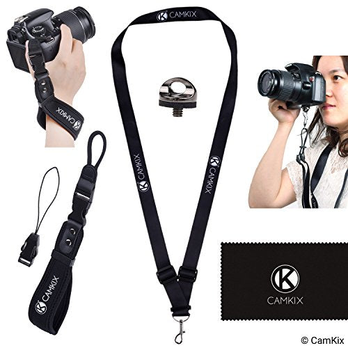 Wrist Strap and Lanyard for DSLR and Compact Cameras