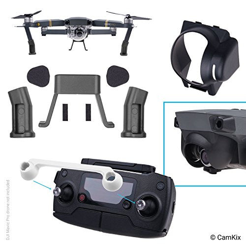 Sun Hood, Remote Control Lock and Landing Gear Kit for DJI Mavic Pro / Platinum