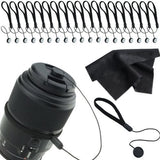 Lens Cap Keepers for SLR or DSLR Camera - 20 Pack