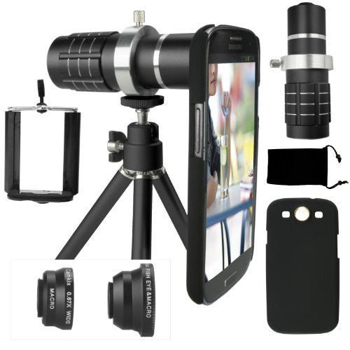 Lens Kit for Samsung Galaxy S3 - 4in1 - 12x Telephoto