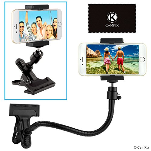 Universal Phone/Camera Holder with Flexible Gooseneck and Strong Clamp