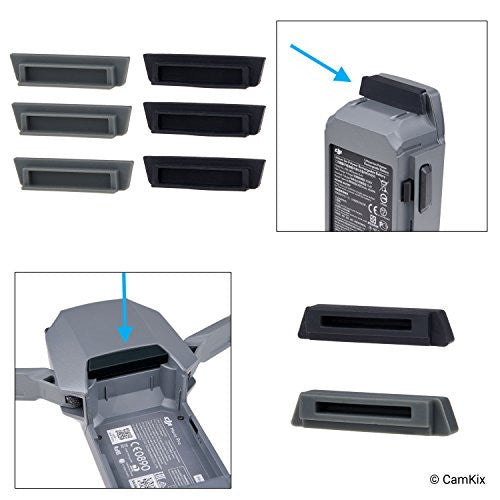 Battery &Charging Port Protectors for DJI Mavic Pro / Platinum Drone - 8 Pack