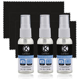 Lens & Screen Cleaning Kit - 3 Spray Bottles, 3 Cloths