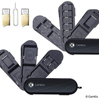 Set of 2 Memory Card Storage Cases - 2x Micro SD Reader (USB) - 1x Eject Pin - 5x SD, 8x Micro SD, 1x Mini SIM, 1x Micro SIM and 1x Nano SIM