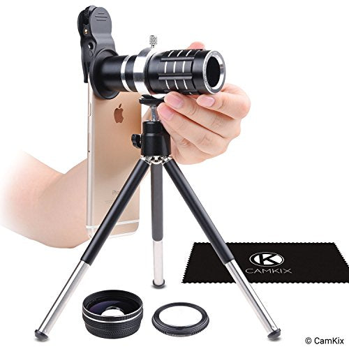 Universal 3in1 Lens Kit with 12x Telephoto + Macro + Wide Angle Lenses