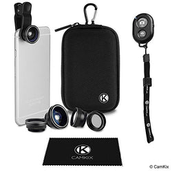Universal 5in1 Lens Kit and Shutter Remote for Smartphone and Tablet