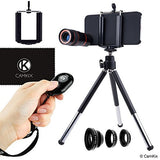 Lens & Shutter Remote Kit for iPhone 5s / 5 / SE - 4in1 - 8x Telephoto
