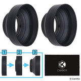Rubber Camera Lens Hood 52mm - Set of 2