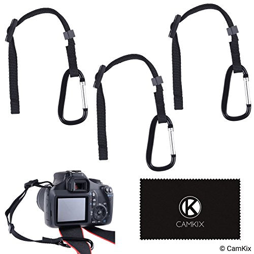 Camera Tether with Carabiner (Pack of 3)