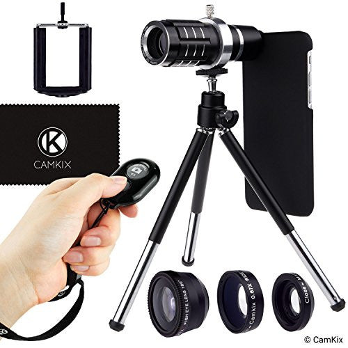 Lens Kit & Shutter Remote for iPhone 6/6s + 6 Plus/6s Plus - 4in1 - 12x Telephoto
