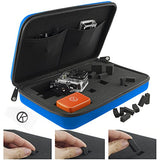Case with Customizable Interior for Gopro Hero - (L) Blue