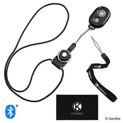 Bluetooth Camera Shutter Remote with Wrist Strap and Neck Lanyard