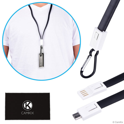 USB Lanyard for Ledger Nano S - Transport, Power and Data Transfer Cable