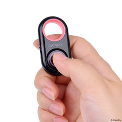 Compact Bluetooth Shutter Remote Control (Pink and White)