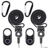 Shutter Remote Control with Bluetooth Wireless Technology - 2 Pack Lanyard with Detachable Ring Mount - Carabiner