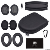 Headband and Ear Pads Replacement + Protective Storage Case for Bose QC15 and QC2