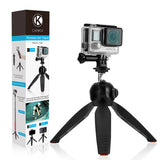 Tripod Base and Hand Stabilizer Grip for GoPro Hero,  Camera & Smartphone