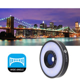 Universal Lens Kit with LED Ring for Smartphone and Tablet