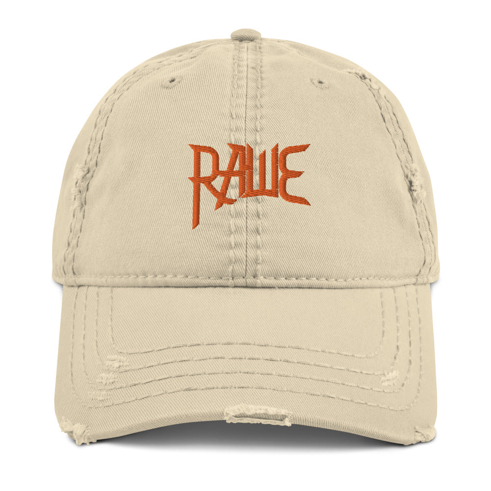 RAWE BAND Distressed Dad Hat (Khaki)