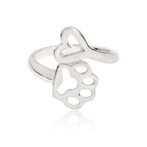 Paw Heart Ring