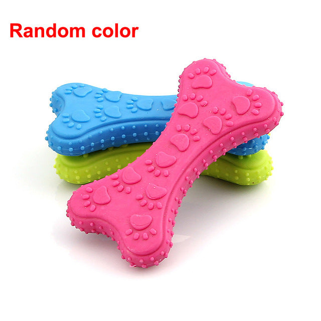 1 Random Color Rubber Teeth Chew Training Toy