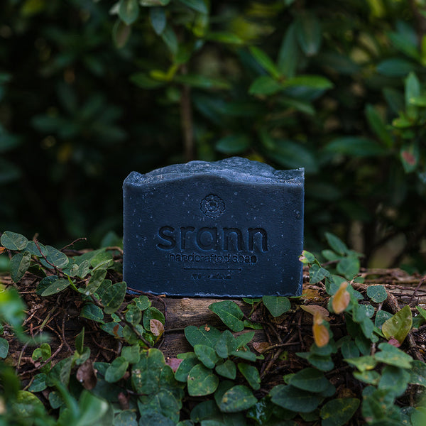 BS02: MIDNIGHT: Bamboo Charcoal & Tea Tree Oil Soap - SRANN