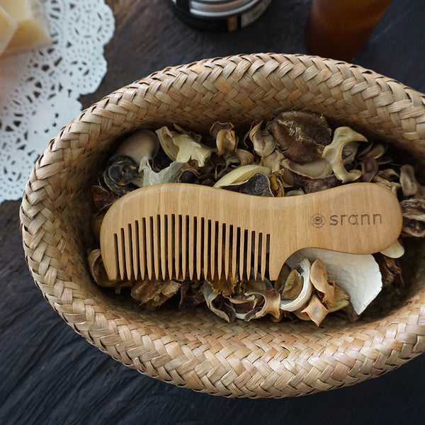 Handmade WOODEN COMB 6 in.