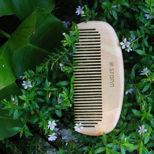 WC01: Handmade WOODEN COMB 5 in.