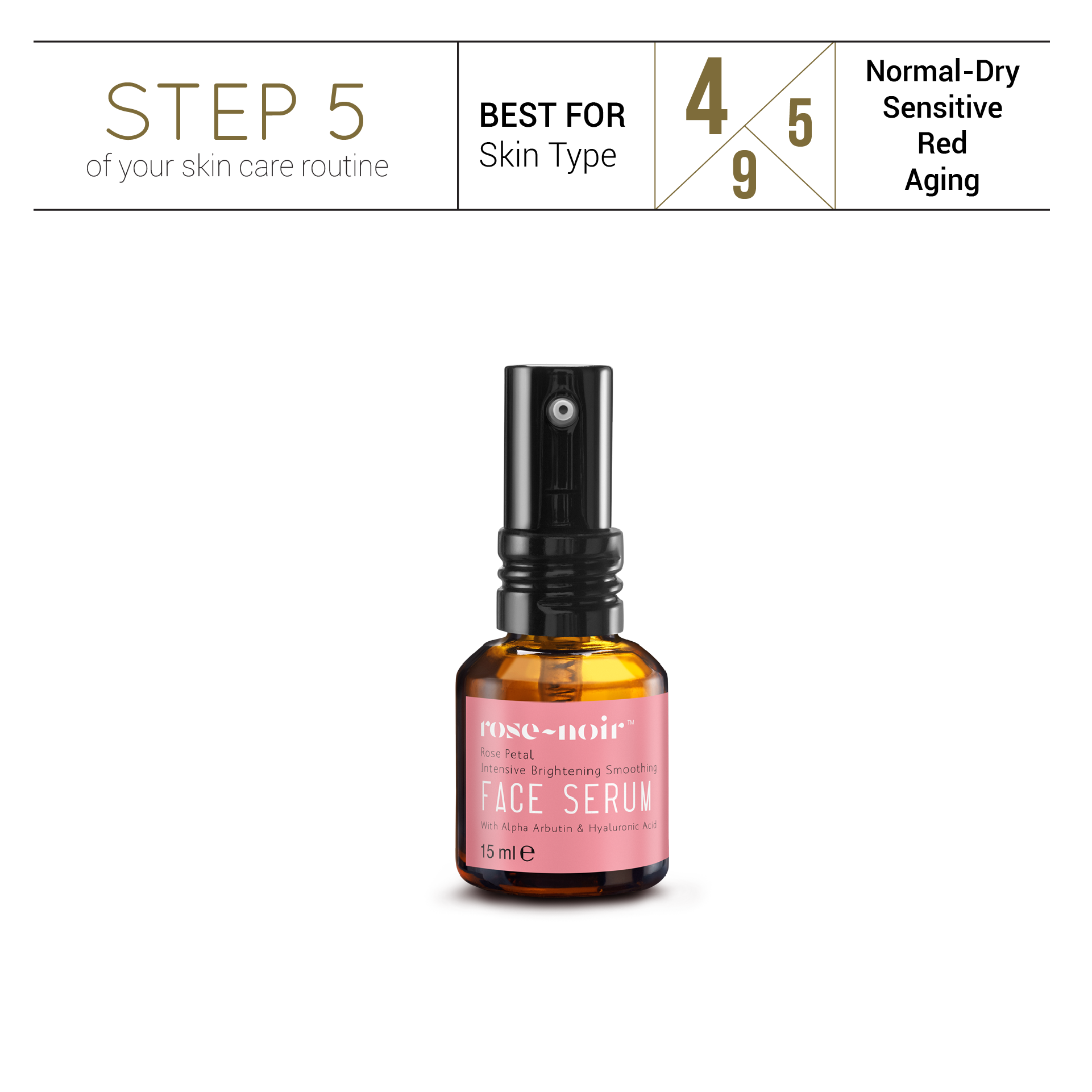 Rose Stem Cell Intensive Brightening Smoothing FACE SERUM - SRANN