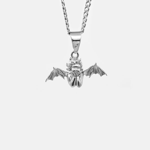 FALLEN ANGEL CUBAN NECKLACE RARE-ROMANCE™️ RARE-ROMANCEJewelry - Jewelry - Fashion - silver - gold - necklace - pendant  - chain - choker
