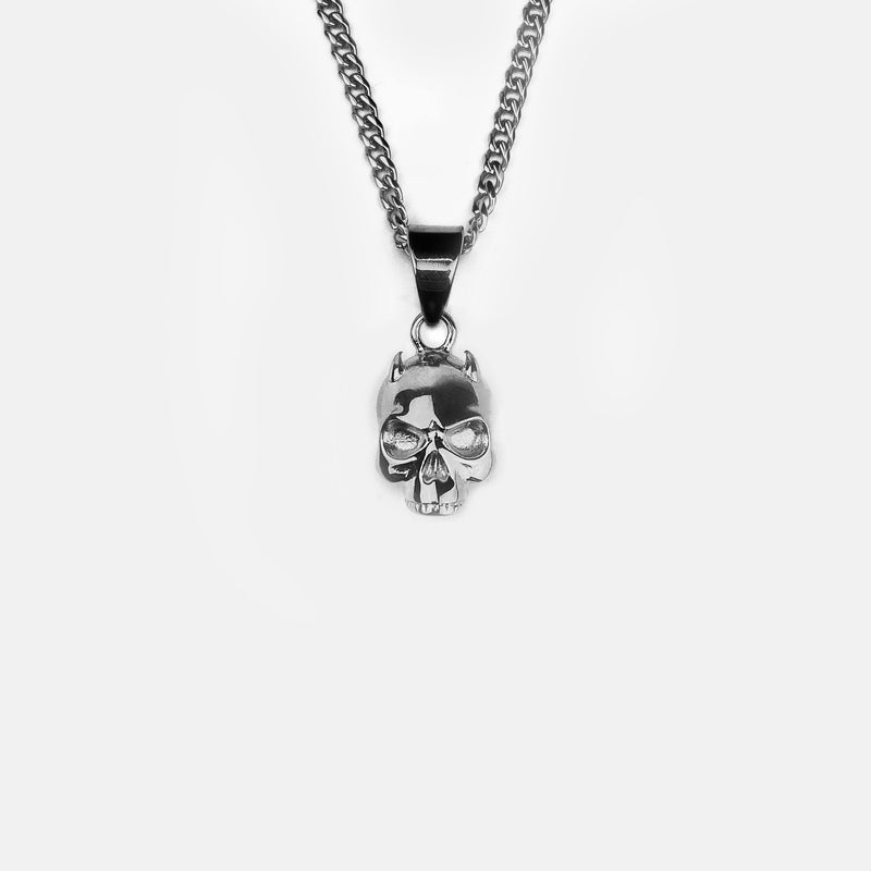 DEMON SKULL CUBAN NECKLACE RARE-ROMANCE™️ RARE-ROMANCEJewelry - Jewelry - Fashion - silver - gold - necklace - pendant  - chain - choker