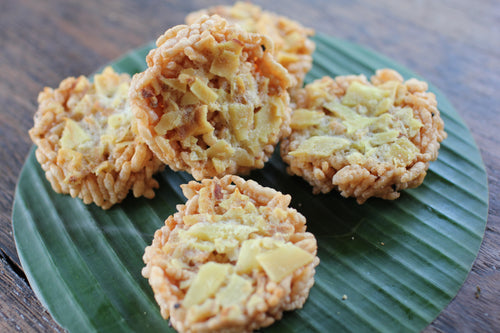 Crispy Rice Cracker Durian