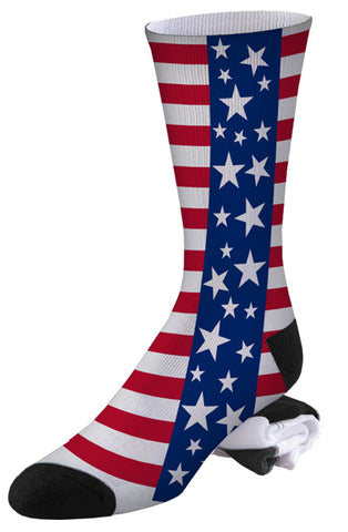 Stars and Stripes USA American Pride Socks