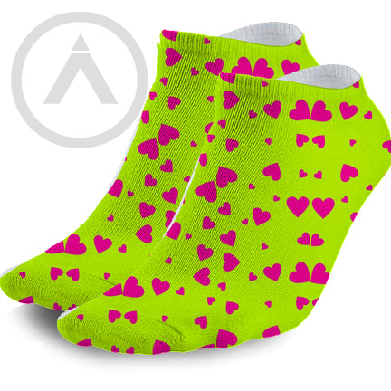 Pink and Green Hearts