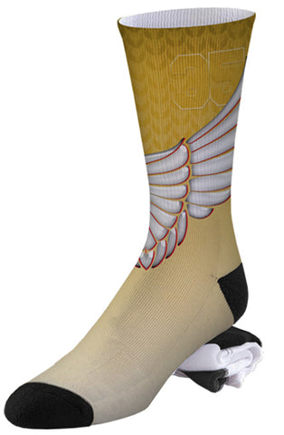 #35 Aunt Pearl Winged KD Inspired Socks