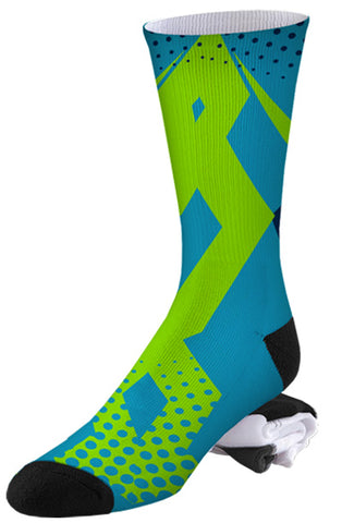 Blue Athletic Crossfit Inspired Sport Socks