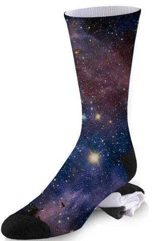 Navy Nebula Galaxy Socks