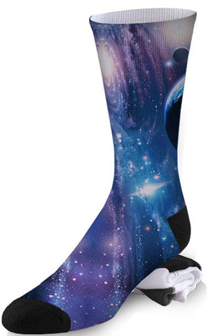 Planetary Purple and Blue Galaxy Socks
